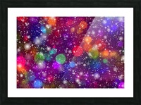 background, abstract, bokeh, lights, decoration, star, party, colorful, confetti, Picture Frame print