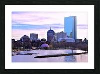 12.5.18 Skyline Boston Picture Frame print