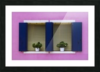 Windows in Burano Picture Frame print