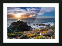 sea, seashore, water, nature, sky, blue, summer, landscape, colorful, clouds, sunset, outdoor, Picture Frame print
