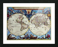 Antique map old map history globe earth maps historical map drawing old map of the world  Picture Frame print
