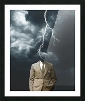 Lightning Strikes Picture Frame print