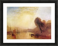 Regatta at Cowes Castle by Joseph Mallord Turner Picture Frame print