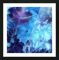 Abstract Blue Colors Picture Frame print