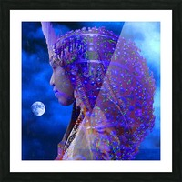 Moon Shadow Picture Frame print