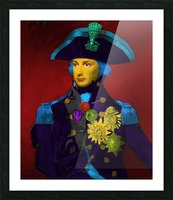 Horatio Nelson Pop Art Picture Frame print