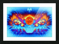 Escape from the Sun Picture Frame print