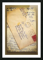 Old Letters Picture Frame print