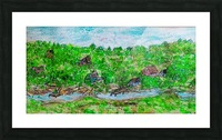 Along the Riverside Picture Frame print