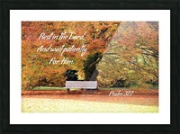 Rest in the Lord Picture Frame print
