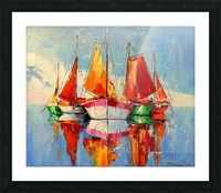 Boats in the morning Picture Frame print