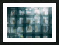 Glass lines 1 triptych Picture Frame print