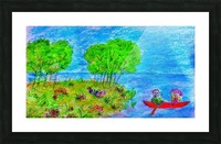 Rowboat Bliss Picture Frame print