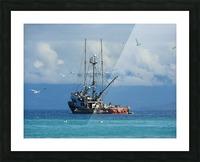 Aqua Picture Frame print