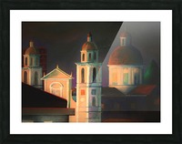 la basilica a Lavagna Picture Frame print