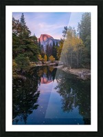 Half Dome in Autumn Picture Frame print
