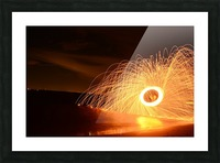 Flaming Stars Picture Frame print