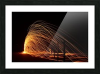 Majestic Flames Picture Frame print