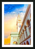 San Francisco Ferry Building Clock Tower By Terri Phillips Mierkey Picture Frame print