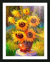 A bouquet of sunflowers Picture Frame print
