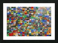 The Wall of Random Bricks Picture Frame print