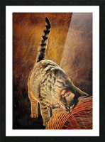 Curiosity And The Cat Picture Frame print