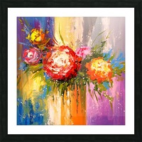 Bouquet of flowers Picture Frame print