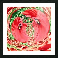 Coquelicots Picture Frame print