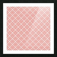 Living Coral Pattern I Picture Frame print