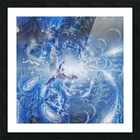 Angel in Space Tunnel Picture Frame print