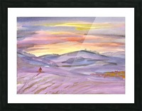 Sunset ski trip Picture Frame print
