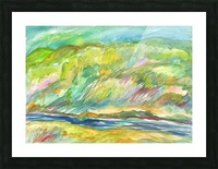 Spring Grove by the River Picture Frame print