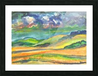 Landscape before a thunderstorm Picture Frame print