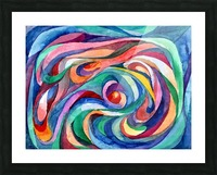 Abstract underwater world Picture Frame print