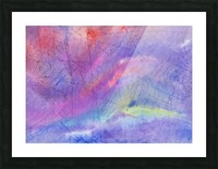 Abstract Mauve wave Picture Frame print