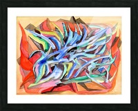 Abstraction Crystals Picture Frame print
