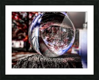Through the ball Picture Frame print