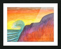 Sea surf at sunset Picture Frame print