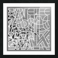 Type Is Deviant - Typography Art Print Picture Frame print