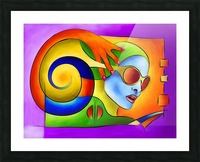 Fenimeussa - blue spiral beauty Picture Frame print