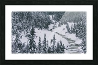 Frozen river. Picture Frame print