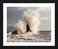 Exploding rocks Picture Frame print