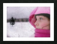 Winter pink Picture Frame print