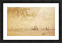 Seascape, a grey note by Whistler Picture Frame print
