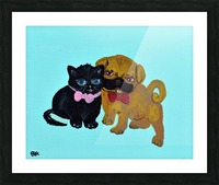Pugs and Hugs. Erin R Picture Frame print