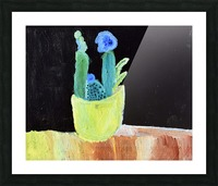 Blue Flower. Marie H Picture Frame print