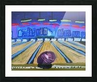 Bowling Alley. David K Picture Frame print