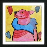 Happy Dog. Jana A. Picture Frame print