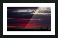 Blood red sunset Picture Frame print