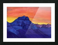 Stone Knight guarding the sacred mountain Picture Frame print